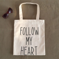 韩版文艺帆布包女包单肩包购物袋环保袋学生书包简约小清新夏