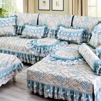 四季通用布艺沙发垫全盖欧式坐垫定做防滑全包沙发套罩巾