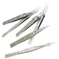 老a 不锈钢尖嘴弯头镊子细尖头镊子电子维修工具美甲镊子燕窝挑毛