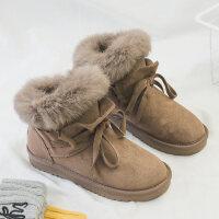 雪地靴女2018冬季新款短筒韩版百搭学生潮棉靴保暖棉鞋加厚短靴