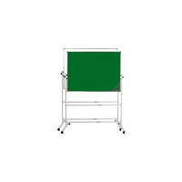 会议大白板双面教学磁性白板支架式可移动写字板家用立式办公黑板 120*240双面绿板+银色支架+礼包 升级版铆接