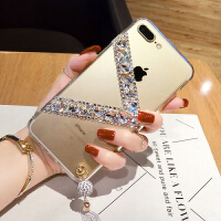 苹果8plus手机壳钻石iphone7水钻X欧美潮6保护套6plus女款8大气5s
