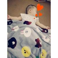 宝宝夏季珊瑚绒软毛毯办公室膝盖空调毯儿童午睡小毛巾云貂绒毯子