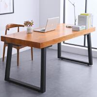 实木书桌北欧电脑桌台式桌子家用双人简约现代写字桌办公桌书法桌 尺寸:200*80*75 厚度8cm