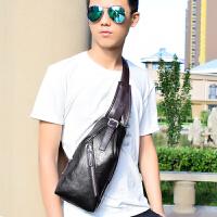新款真皮胸包男士斜挎包韩版单肩包包休闲包时尚牛皮包背包潮