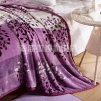 秋冬防滑加绒毛毯加厚双人铺床毯子法兰绒床单单件珊瑚绒单人绒毯