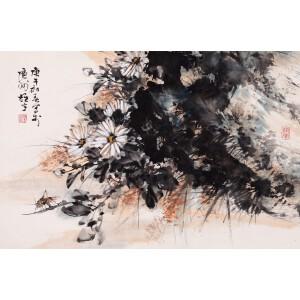 国画家、美术教育家   黎雄才《秋趣图》