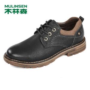 【品牌钜惠 下单立减120】木林森99男士户外休闲鞋真皮工装鞋20108新款男鞋