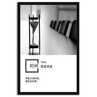公司励志标语企业文化墙挂画背景装饰壁画可定制logo展板海报有框 大款63*93 经典雅黑框+有机玻璃面+防潮背板