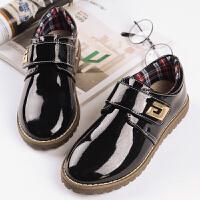 儿童皮鞋男童演出表演鞋男孩黑色鞋子