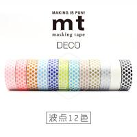 日本原装进口 DECO系列基础款MT和纸胶带 波点 12色