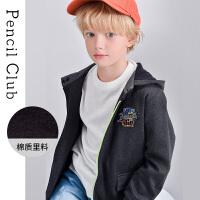 铅笔俱乐部男童加厚外套2020秋冬装中大童拉链运动开衫上衣男