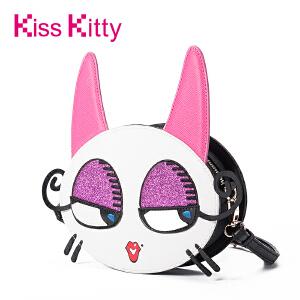 Kiss Kitty单肩女包2017年韩版新款Myoo斜挎包萌趣个性潮流小圆包