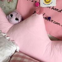 靠垫韩版新皇冠床头垫大靠背公主可爱可拆洗软包卡通抱枕