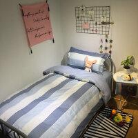 20181229195437607学生被套三件套被单三件套床单三件套床上用品 学生宿舍 单人纯棉
