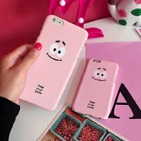 韩国可爱嫩粉色派大星iphone5s/6/plus手机壳笑脸卖萌手机硬壳女