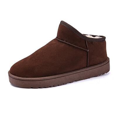 雪地靴男冬季加绒保暖短筒棉鞋情侣鞋韩版懒人防水防滑棉靴男