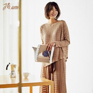 顶瓜瓜家居服女士韩版套装舒适个性睡衣可外穿2018春夏新款