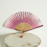 古风扇子日式樱花折扇女舞蹈扇表演工艺娟扇中国风镂空古装折扇子