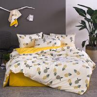 绿色仙人掌1.5m1.8m2.0米床单被套床上用品三件套