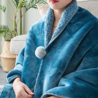 盖腿小毯子毛毯办公室午睡毯单人加厚保暖冬季电脑懒人毯披肩斗篷