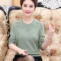 中老年女装秋冬羊毛衫40-50岁妈妈冬装针织打底衫圆领套头毛衣女
