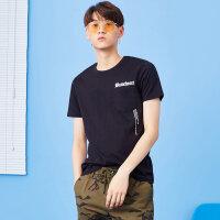 【2件4折到手价:39.6】美特斯邦威 短袖t恤男装2018夏季新款韩版小字母个性印花短袖t恤