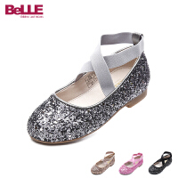 百丽Belle童鞋18新款女童时装鞋时尚闪亮儿童皮鞋女生校园表演鞋学生鞋(5-10岁可选) DE0653