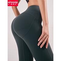 翘臀健身裤女弹力紧身裤运动长裤高腰蜜桃提臀瑜伽裤冬