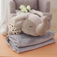 可爱卡通多功能午睡枕头抱枕被子两用办公室汽车靠垫被三合一毯子
