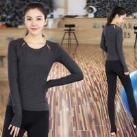 新款女士速干健身房紧身服瑜伽服套装女 韩版跳操跑步运动裤显瘦瑜珈衣