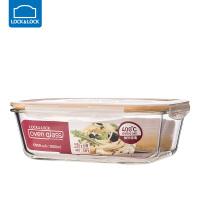 乐扣乐扣耐热玻璃饭盒保鲜盒便当盒密封碗大容量微波炉烤箱可用 2000ml【长方形】