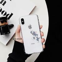 卡通趣味猫咪和老鼠iphonexs max手机壳X苹果8plus透明6s/7个性潮 6/6s 猫