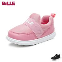 百丽Belle童鞋17婴幼童宝宝学步鞋轻便舒适儿童运动鞋男女童休闲鞋 黑色(0-4岁可选) DE5904