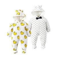 婴儿童连体衣服0-1岁3个月新生儿秋冬装冬季女棉衣6哈衣秋季秋装