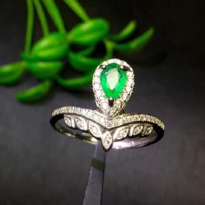 纯天然哥伦比亚祖母绿戒指精品祖母绿