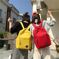 双肩背包女潮 2018新款 韩版百搭学院风旅行背包百搭高中学生书包