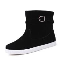 男士雪地靴冬季男鞋学生棉鞋加绒保暖靴子男式长筒靴韩版潮男靴