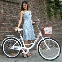 男女式自行车通勤单车城市复古代步轻便公主学生淑女车