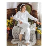 珊瑚绒睡衣女冬韩版可爱公主法兰绒两件套甜美家居服可外穿套装秋