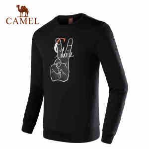 camel骆驼运动卫衣情侣款长袖圆领衫秋季休闲舒适透气时尚运动服男女