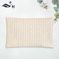 乳胶枕头加厚加高枕芯单人学生荞麦皮枕头护颈枕颈椎枕 米白色