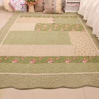 新款居家布艺韩式唯美田园绗缝创意客厅卧室地垫爬行垫沙发垫