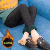 女童牛仔裤2018秋冬韩版新款加绒加厚长裤儿童女孩保暖中大童