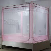 ???蚊帐三开门不锈钢坐床式拉链1.5m床蒙古包1.8m米床双人床家用蚊帐