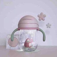 带手柄重力球儿童吸管水杯 婴儿学饮杯幼儿园宝宝