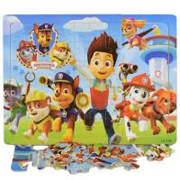 ?儿童木质拼图幼儿宝宝60/100/200片2-3-4-5-6-7-8岁玩具男孩? 24_绿色 40片朵拉