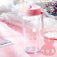 夏季儿童水杯便携塑料随手杯子少女心小学生韩国清新可爱韩版水瓶