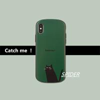 日韩黑猫复古墨绿苹果x手机壳XR/XS/Max/iPhone7/8plus防摔软套6s