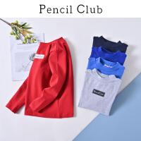 【3件2折:31.8】铅笔俱乐部童装2020春装新款男童长袖T恤中大童套头衫儿童打底衫